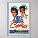 Be A Cadet Nurse ~ Vintage Nurse Poster