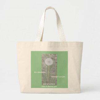Be a Dandelion Jumbo Tote Bag