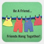 Be a Friend! Sticker