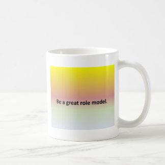 Be a great role model. basic white mug