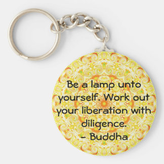 Be a lamp unto yourself. Work out your liberation Basic Round Button Key Ring