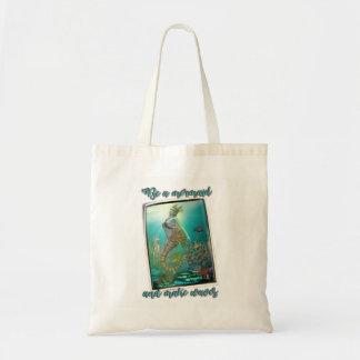 Be a mermaid and make waves tote bag