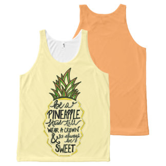 Be A Pineapple All-Over Print Tank Top
