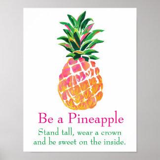 Be a Pineapple Art Print