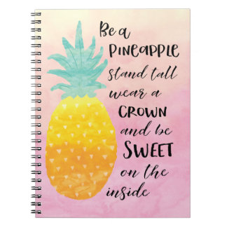 Be a Pineapple Spiral Notebook