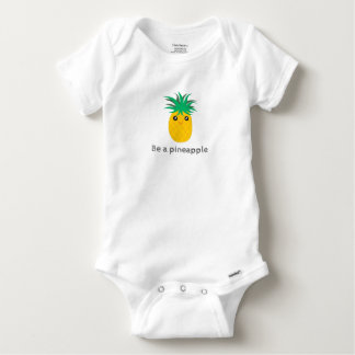 Be A Pineapple Stand Tall Be Sweet Unisex Baby Onesie