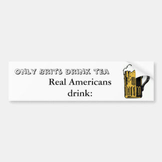 Be a Real American - Bumper Sticker