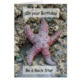 Be a Rock Star-Sea Star Frameable Art Card