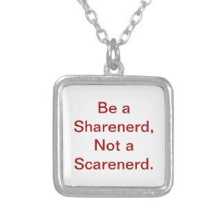 Be a Sharenerd! Silver Plated Necklace