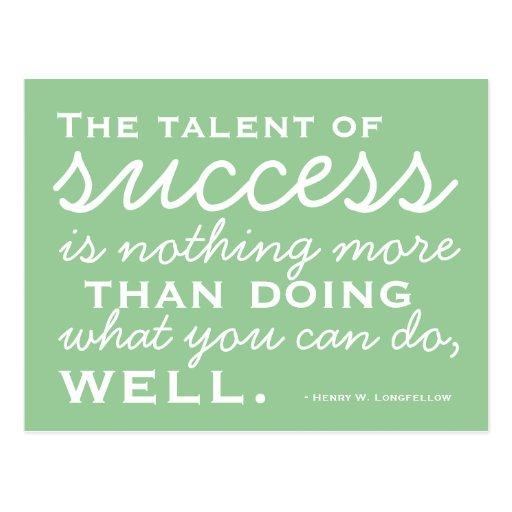 Be A Success -  Motivational Postcard