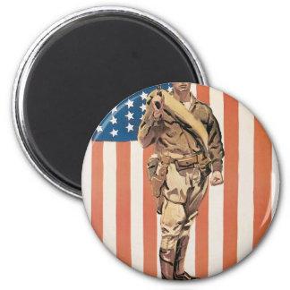 """Be a U.S. Marine!"" circa 1918 6 Cm Round Magnet"