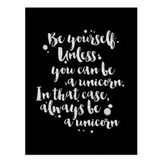 Be a Unicorn - Inspirational Card