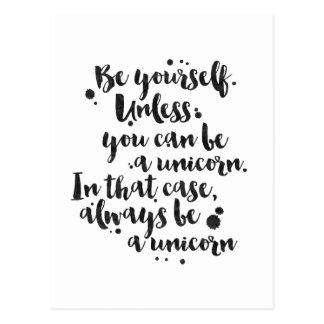 Be a Unicorn - Inspirational Card Postcard