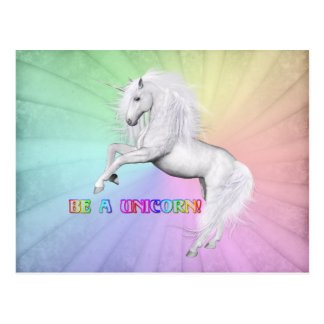 Be A Unicorn Postcard