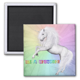Be a unicorn square magnet
