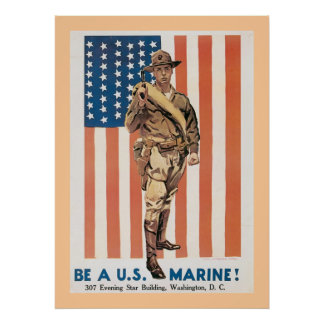 Be A US Marine! Poster