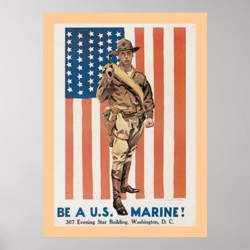 Be A US Marine! Print