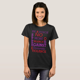 BE A VOICE - DOMESTIC VIOLENCE AWARENESS T-SHIRT