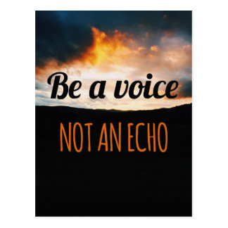 Be A Voice Quote Postcard