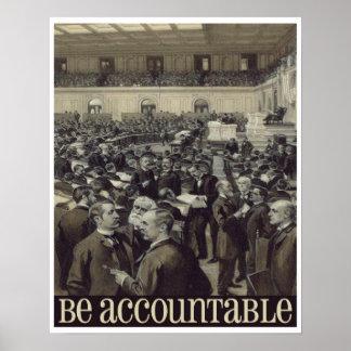 Be Accountable Retro Inspiration Print