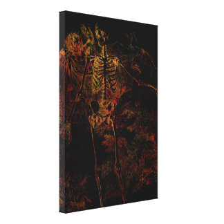 Be Afraid, Be Very Afraid! Gallery Wrapped Canvas
