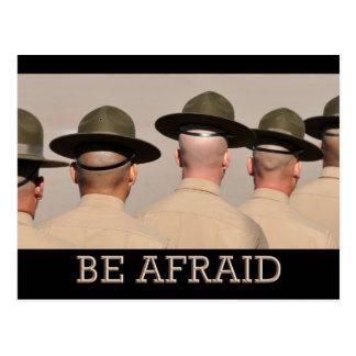 Be Afraid Postcard