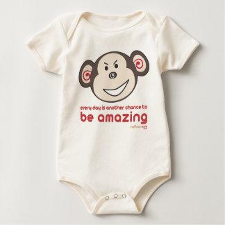 Be Amazing Monkey Babygro (Wicked) Baby Bodysuit