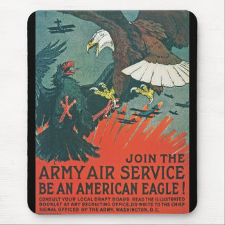 """Be an American Eagle"" RESTORED Army Air Poster Mouse Pad"