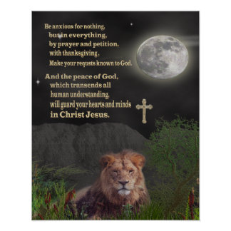 Be anxious for nothing christian poster