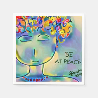 BE AT PEACE - set of 50 custom napkins Disposable Serviette