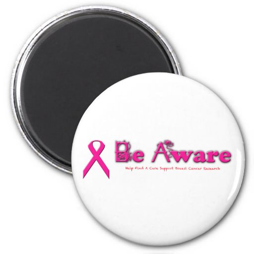 Be Aware Breast Cancer Awareness Fridge Magnet