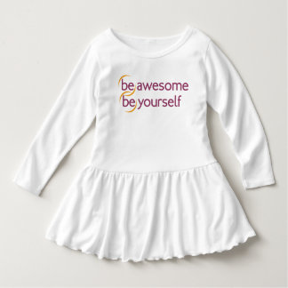 (be)awesome, (be)yourself dress
