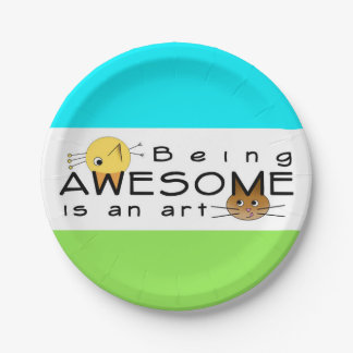 Be Awesome Paper Plate