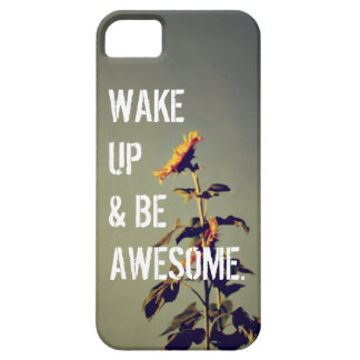 """Be Awesome"" Sunflower iPhone 5 Case"