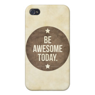 Be awesome today iPhone 4/4S cover