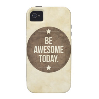 Be awesome today iPhone 4/4S covers