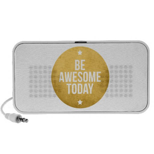 Be awesome today, text design, word art iPhone speakers