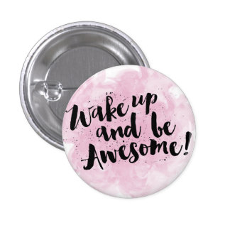 Be awesome watercolor typography badge