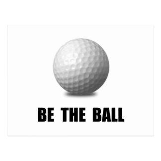 Be Ball Golf Postcard