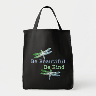 Be Beautiful, Be Kind Dragonflies Tote Bag