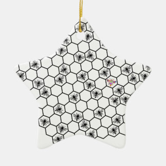 BE bee different bees bee honeycomb beekeeper hone Christmas Ornament