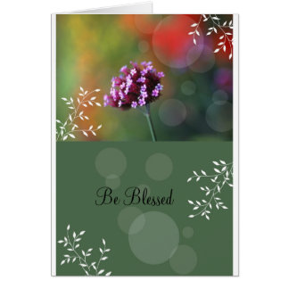 Be Blessed Greeting Card