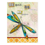 Be Bold, Be Beautiful, Be Brave Postcard