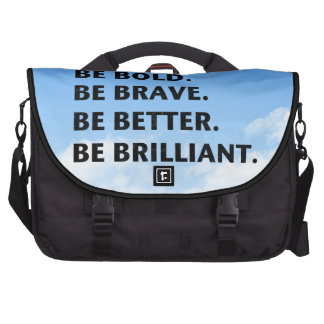 Be Bold Be Brilliant Laptop Computer Bag
