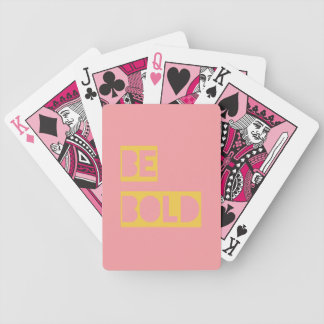 Be Bold Motivational Gifts Pink Yellow Poker Deck