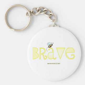 Be Brave - A Positive Word Basic Round Button Key Ring