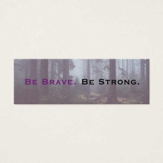Be Brave Be Strong Acts of Kindness Card