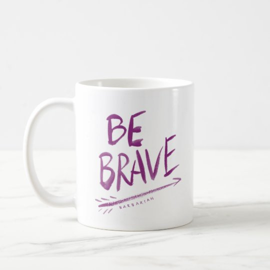 BE BRAVE Boho Arrow Quote Coffee Mug