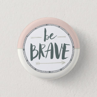 Be Brave Feather & Arrows 3 Cm Round Badge