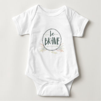 Be Brave Feather & Arrows Baby Bodysuit